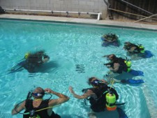 Learn to Dive Scuba diving certification class at Bob's Dive Shop in Fresno